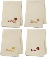 Set Of 4 Falling Leaves Napkins