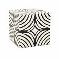 "8"" Square Black and White Circle Design Box"