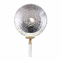 """27"""" Silver Disk Wall Sconce"""