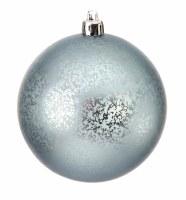 "Box of 6 3"" Blue Matte Ball Ornament"