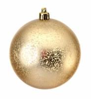 """Box of 6 3"""" Champagne Matte Ball Ornament"""
