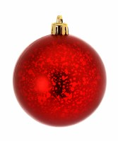 "Box of 6 3"" Red Matte Ball Ornament"