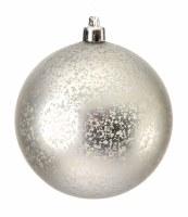 """Box of 6 3"""" Silver Matte Ball Ornament"""