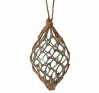 """6"""" Blue Drop With Net Ornament"""