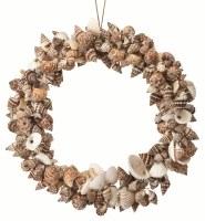 "7"" Brown Shell Wreath Ornament"