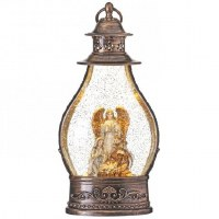 "13"" LED Holy Family Glitter Lantern"