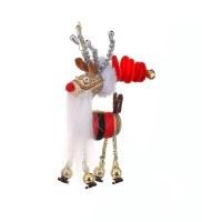 "5"" Cork Deer Ornament With Beard"
