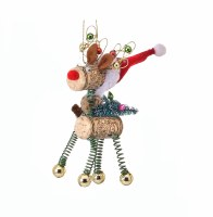 "5"" Cork Deer Ornament With Green Legs"