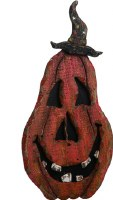"""14"""" Wooden Pumpkin with Small Hat"""