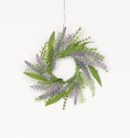 """3"""" Lavender and Fern Candle Ring"""