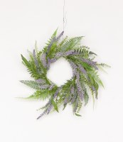 """6"""" Lavender and Fern Candle Ring"""
