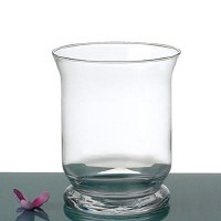"8"" x 6"" Clear Hurricane Glass"