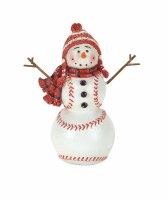 "6.5"" Polyresin Baseball Snowman"