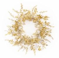 "29"" Gold and Silver Metallic Leaf Wreath"
