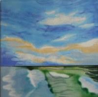 "8"" Square Blue Sky Tile"