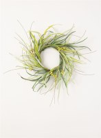 """6.5"""" Green Grass With Berries Candle Ring"""