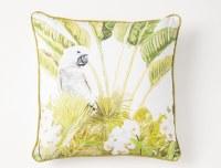 "17"" Square White Cockatoo Pillow"