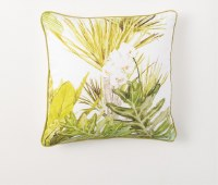 """17"""" Square White Orchid Pillow"""