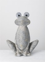 "24"" Gray Frog With Big Eyes"
