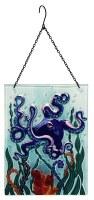 """8"""" x 12"""" Octopus Glass Sun Catcher"""