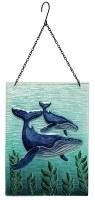 "8"" x 12"" Whale Glass Sun Catcher"