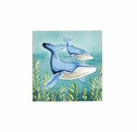 """8"""" Square Humpback Whale Tile"""