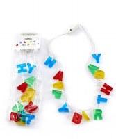 "19"" LED Happy Birthday Necklace"