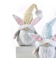 """11"""" Yellow Hat Gnome Bunny Ears"""
