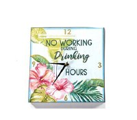 "11"" Square Drinking Hours Clock"