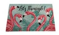 "18"" x 30"" Lets Flamingle Coir Doormat"