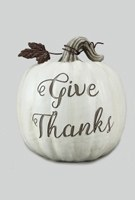 "8"" White Give Thanks Pumpkin"