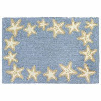 2' x 3' Blue Starfish Border Rug