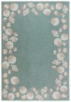 2' x 5' Aqua Seashell Border Rug