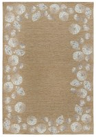 3.6' x 5.6' Natural Seashell Border Rug