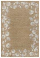5' x 7.6' Natural Seashell Border Rug