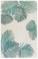 3.3' x 4.11' Aqua Palm Rug