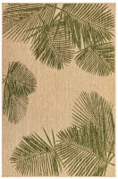 3.3' x 4.11' Green Palm Rug