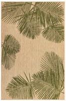 4.10' x 7.6' Green Palm Rug