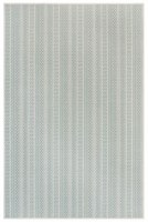 3.3' x 4.11' Aqua Textured Stripe Rug
