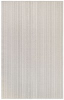 4.10' x 7.6' Taupe Textured Stripe Rug