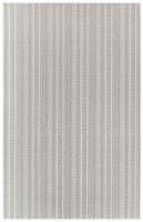 3.3' x 4.11' Silver Textured Stripe Rug