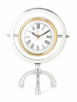 """9"""" Silver and Gold Ring Clock"""