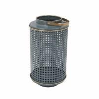 """12"""" Torquois Grid Metal Lantern"""