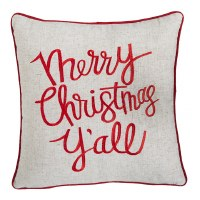 "15"" Square Merry Christmas Y'all Pillow"