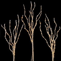 "Set Of 3 LED 40"" Iced Branches"