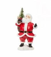 "6"" Santa With Christmas Tree"