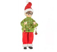 """13"""" Elf With Green Sweater"""