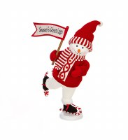 "20"" Skating Snowman With Red and White Season Greeting Sign"