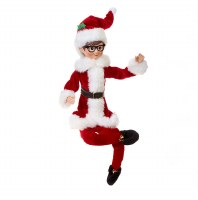 """18"""" Elf With Red Outfit and Glasses"""