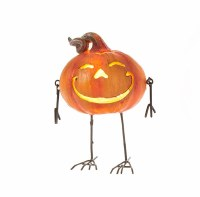 "5"" LED Jack-O-Lantern With Wire Legs"